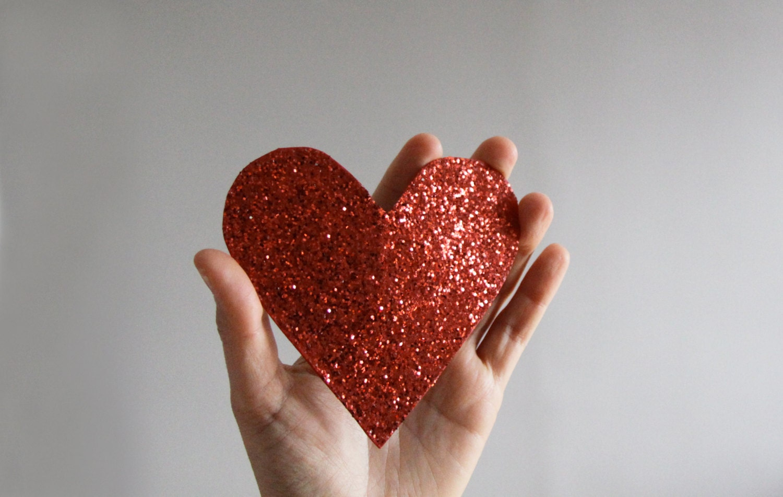 giant glitter heart barrette - mydrawingnumberone