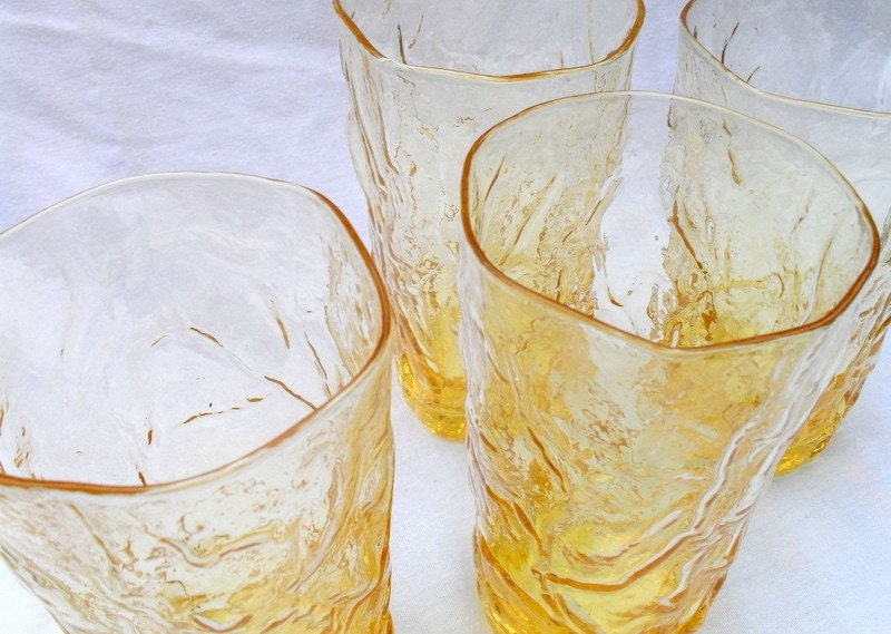 Golden Antlers - Vintage Drinking Glasses
