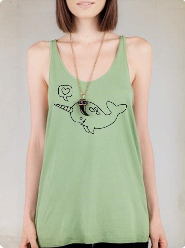 Narwhal Alternative Apparel A-Line Tank Top