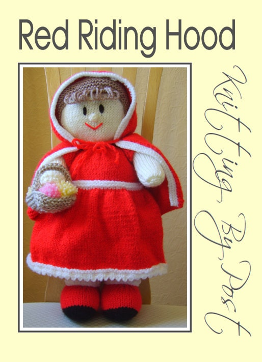 Red Riding Hood Knitting Pattern. Cute Red Fairy by ...