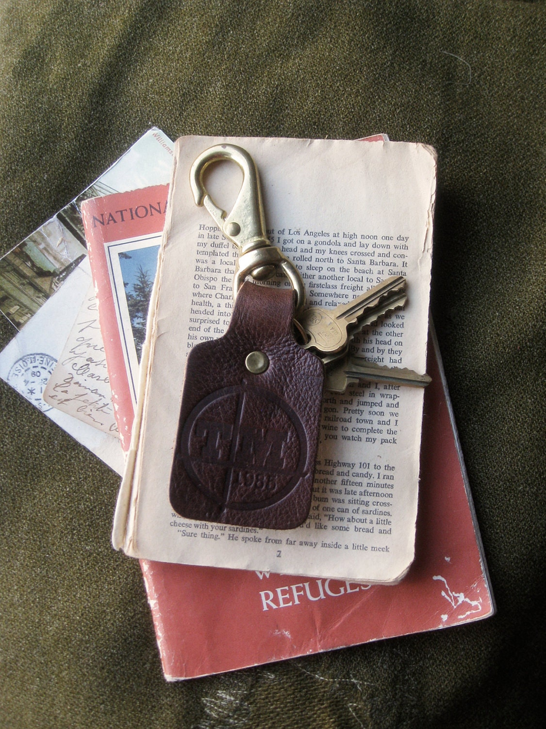 Key Fob- Leather & Brass