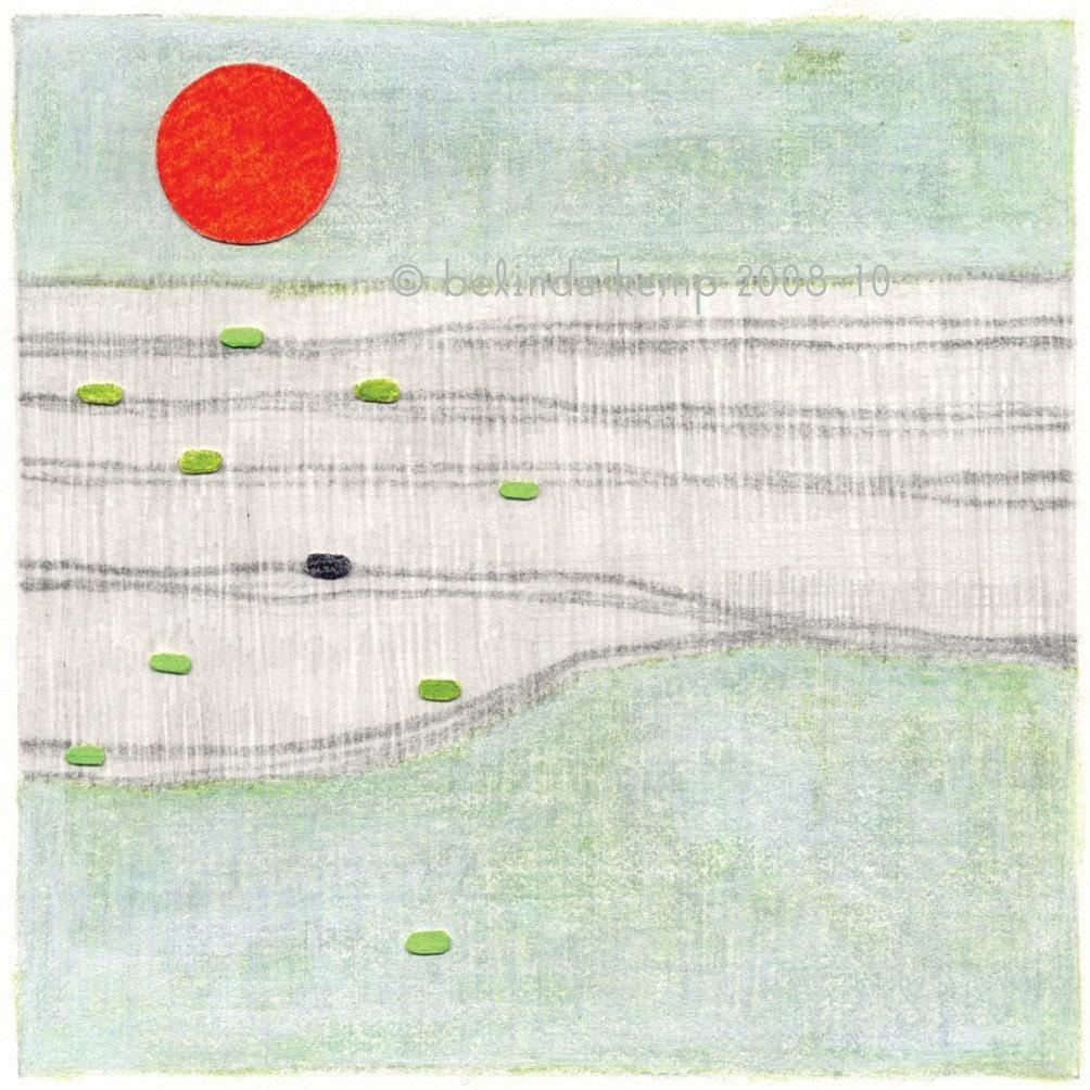 pale ocean . fine art print