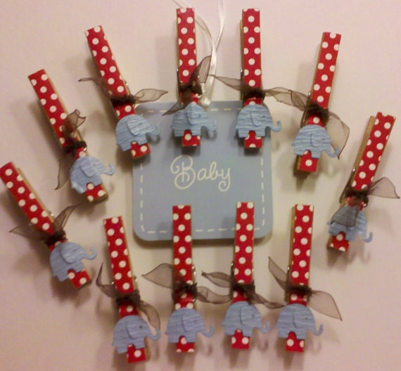 clothes pins for baby shower games elephant by pinsafari on etsy