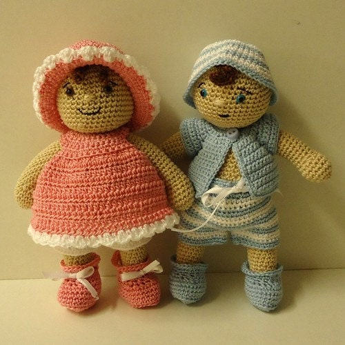 PDF Crochet Pattern - Dress Up Baby Doll