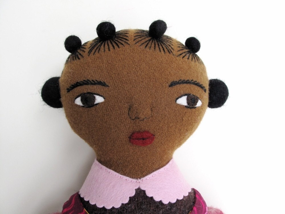 brown girl doll with mermaids