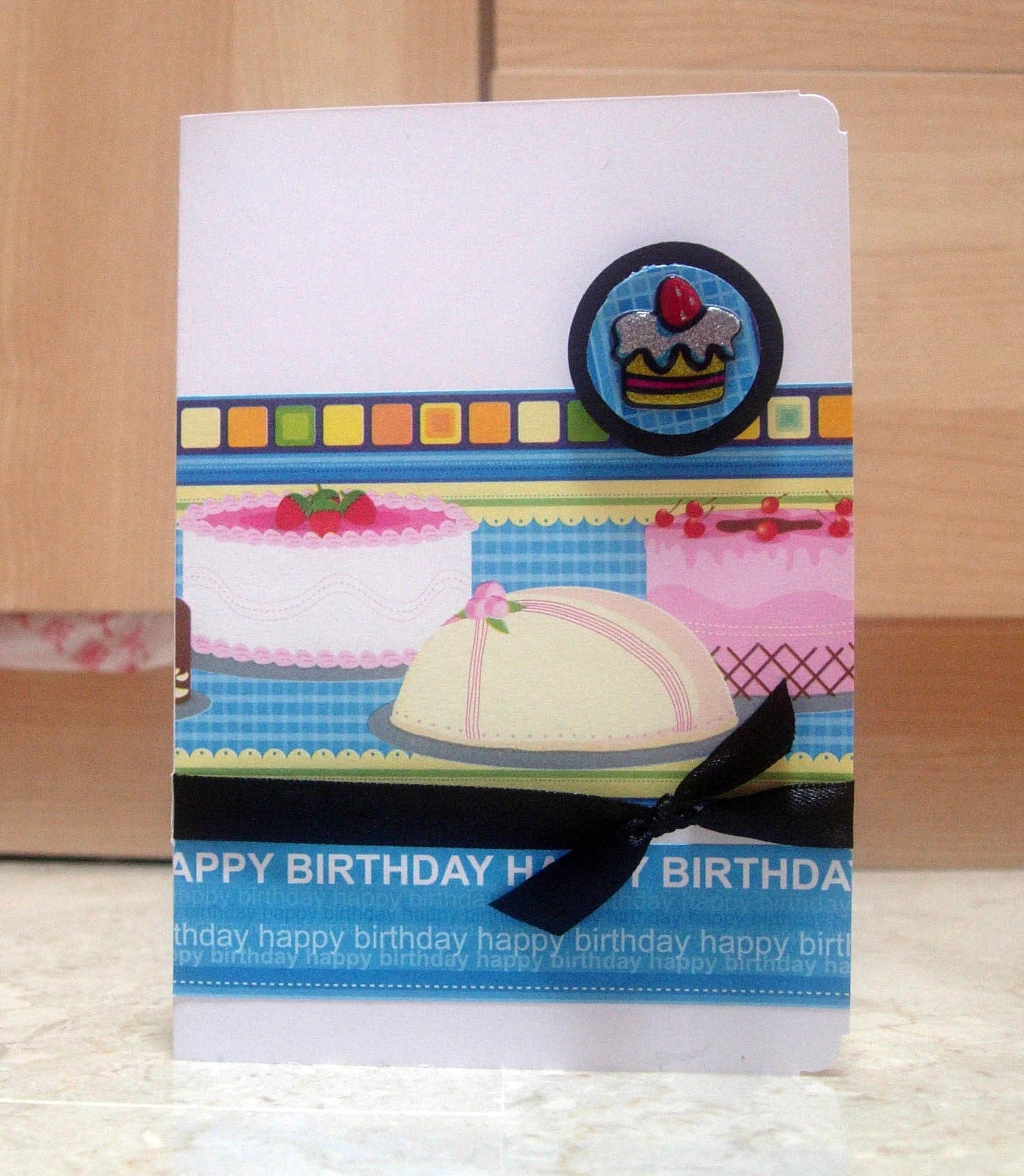 Birthday Cake Blue Card