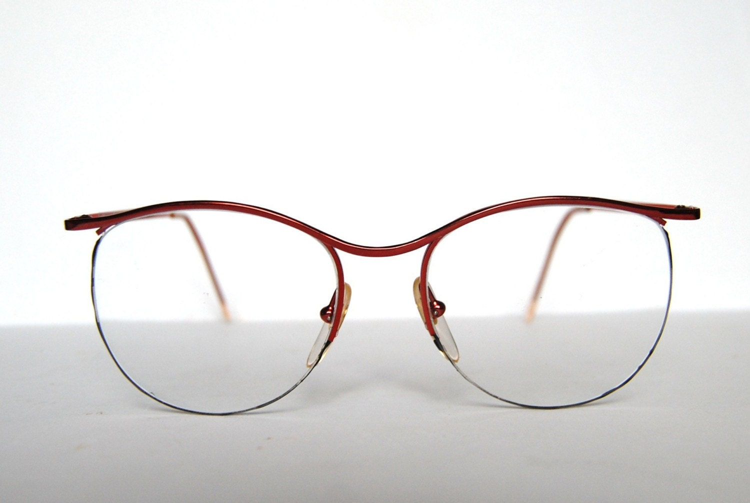 Vintage eyeglasses sunglasses in red metal frame by RetroEyewear from etsy.com
