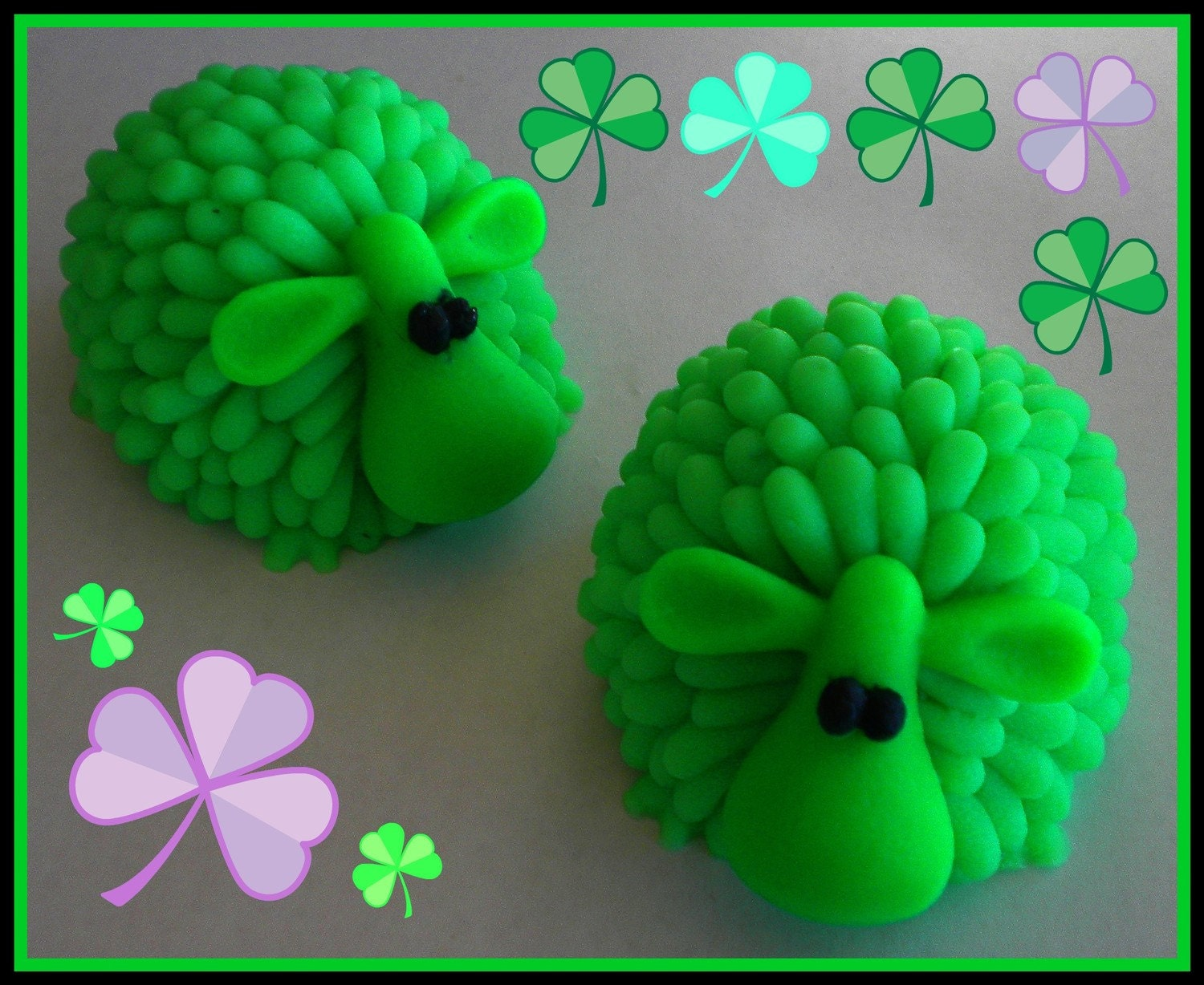 Soap - St. Patrick's Day Green Sheep Soap - 3D - made with goat's milk - choose your scent