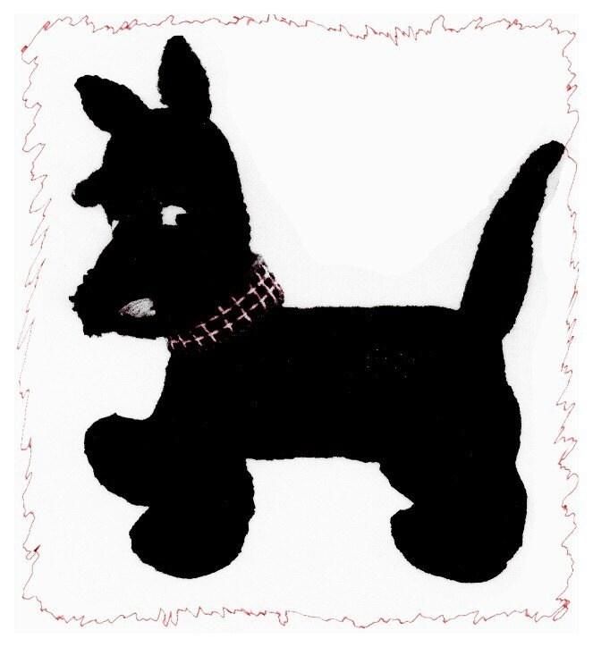 VINTAGE KNITTING PATTERN TOY SCOTTY DOG PDF DOWNLOAD