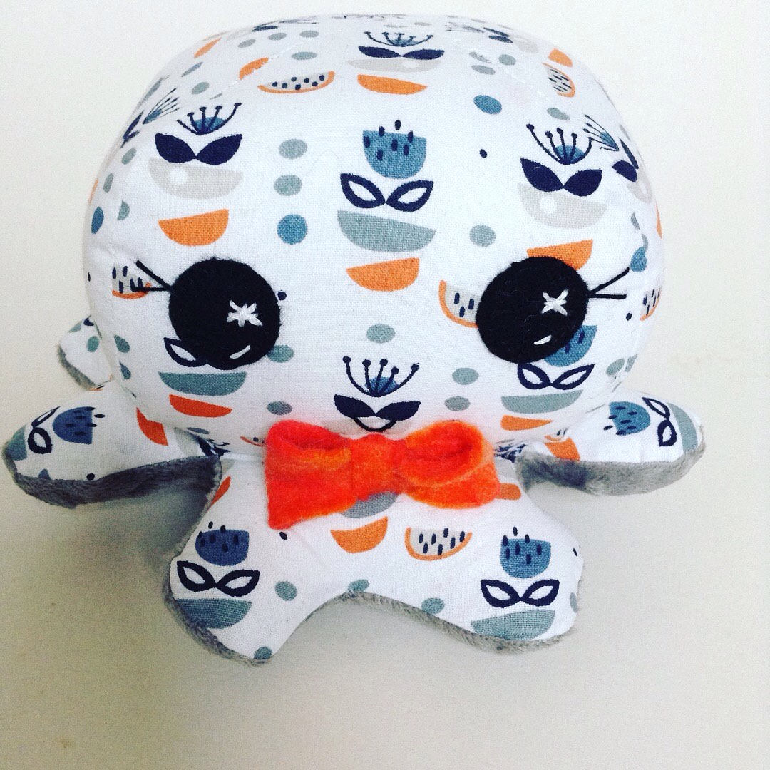 Octopus toy , baby toy , soft toy , toddler toy , handmade toy , baby shower gift , softie , baby gift , crib toy