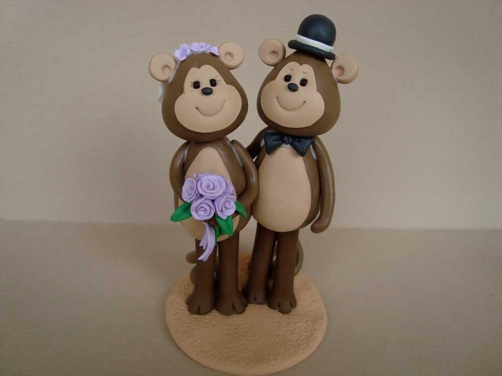 custom made monkey  cake topper