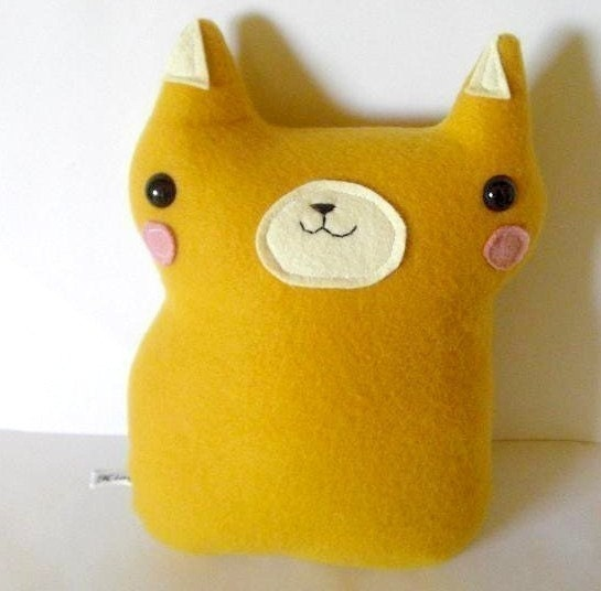 Featured in STUFFED magazine - Honey - The Blushing Forest Kitty Plush - Made to order