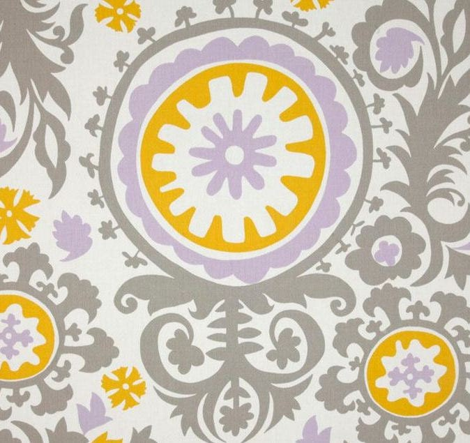 ... Lavender Grey and Yellow and White Damask Table Napkins Linens Fabric