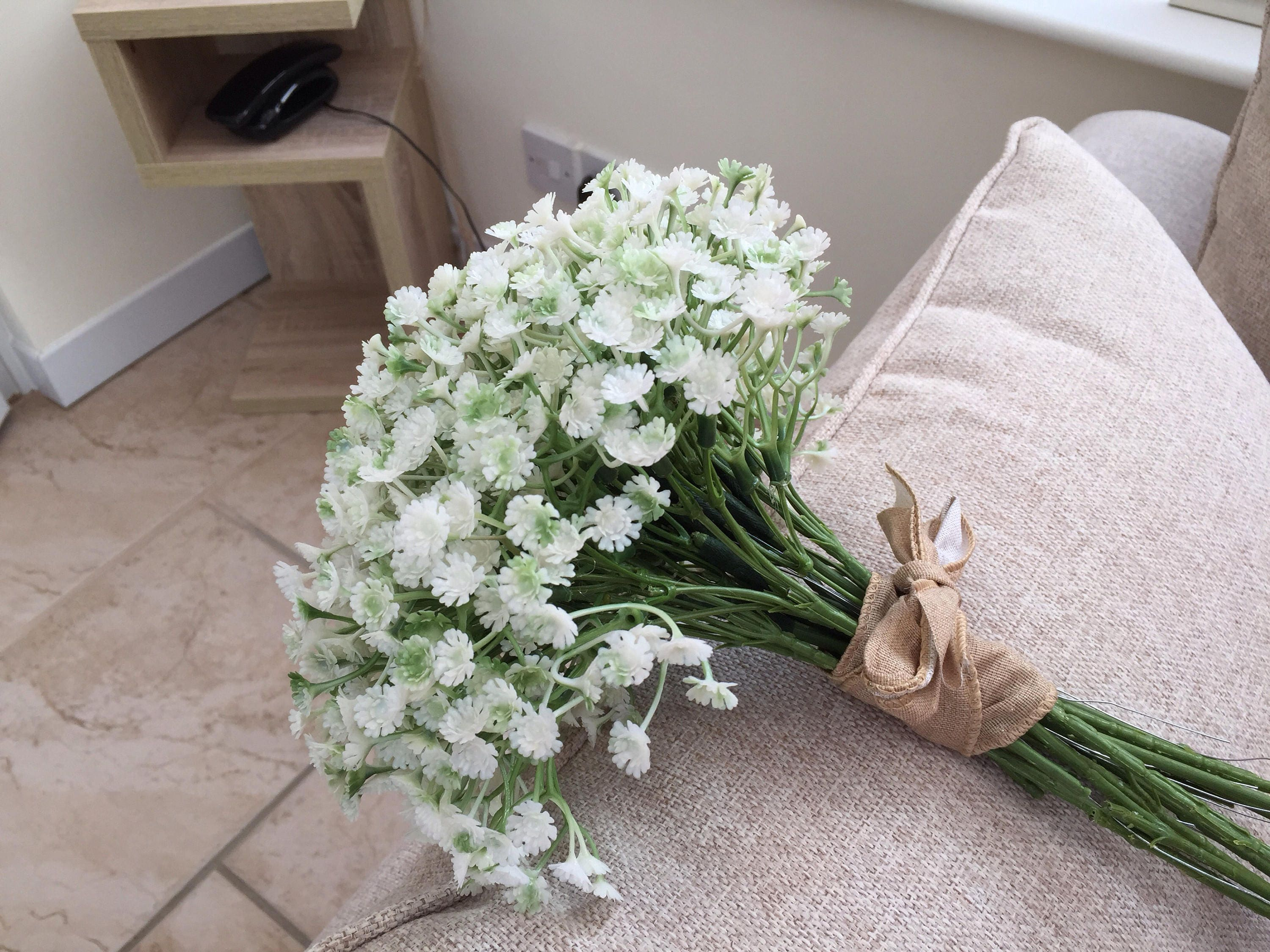 Gypsophila Bouquet Gypsophila Wedding Bouquet Babys Breath Bouquet Bridesmaid Bouquet Artificial Flower Bouquet Artificial Flowers