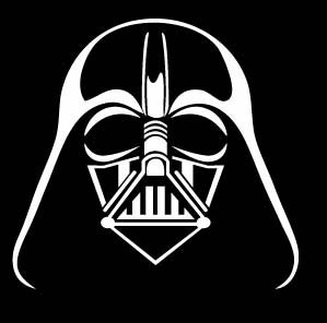 Items similar to pick color darth vader face logo decal for Darth vader black and white
