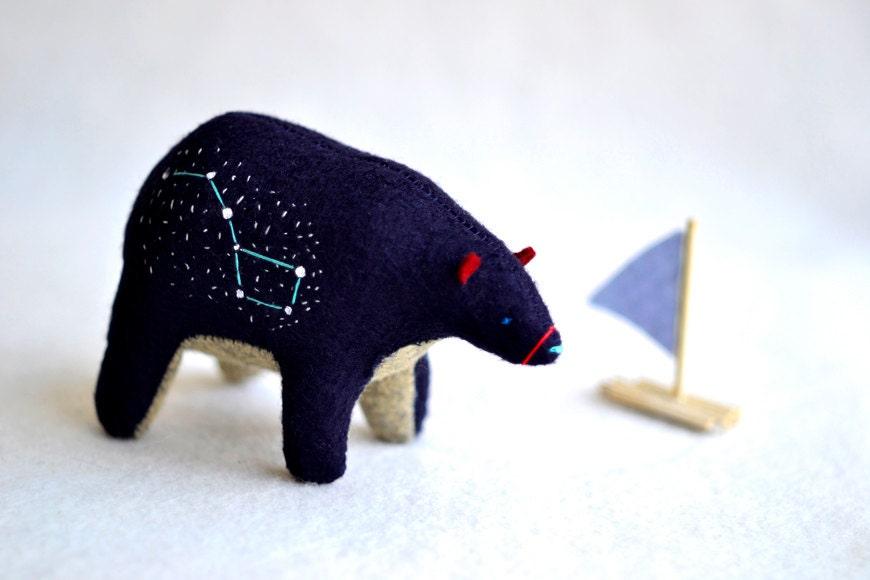 the big bear - ursa major, big dipper - spirit bear - soft sculpture animal