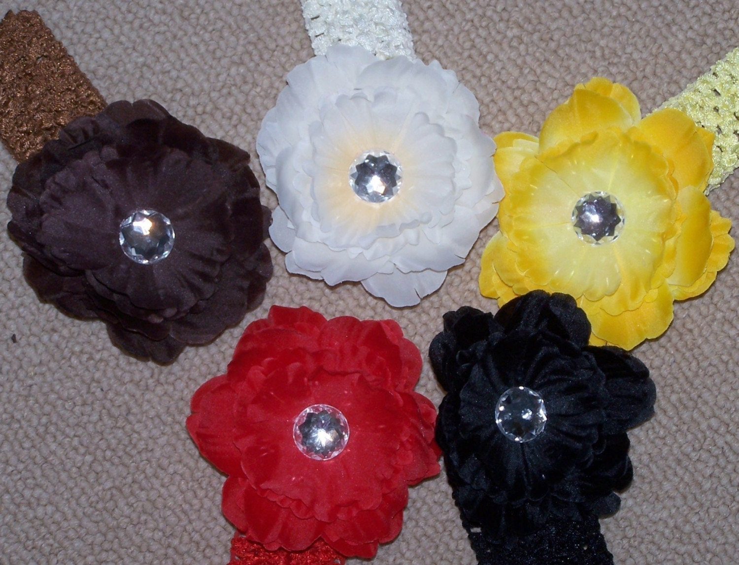 14  Boutique Flower Clip Set with Matching Headbands