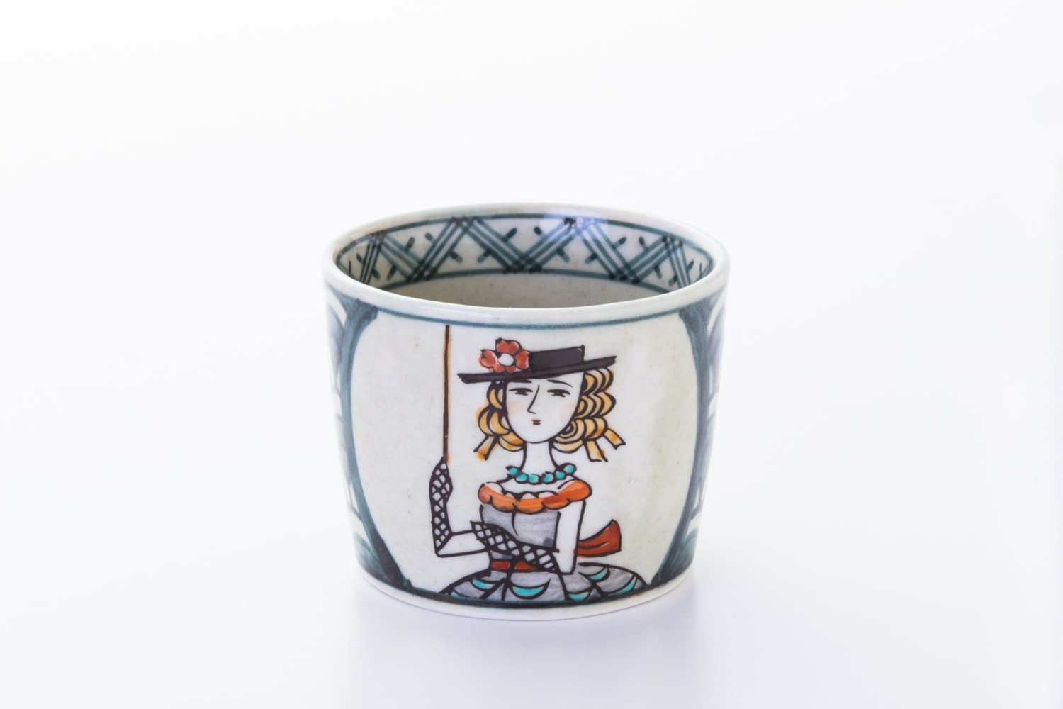 ARITA-YAKI Jiki Japanese traditional Porcelain Tea Cup made in JAPAN - MOTTOJAPAN
