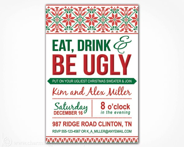 Ugly Sweater Party Invitation was very inspiring ideas you may choose for invitation ideas