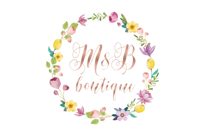 274 best Feminine Design  Boutique Logos  Floral Wreath