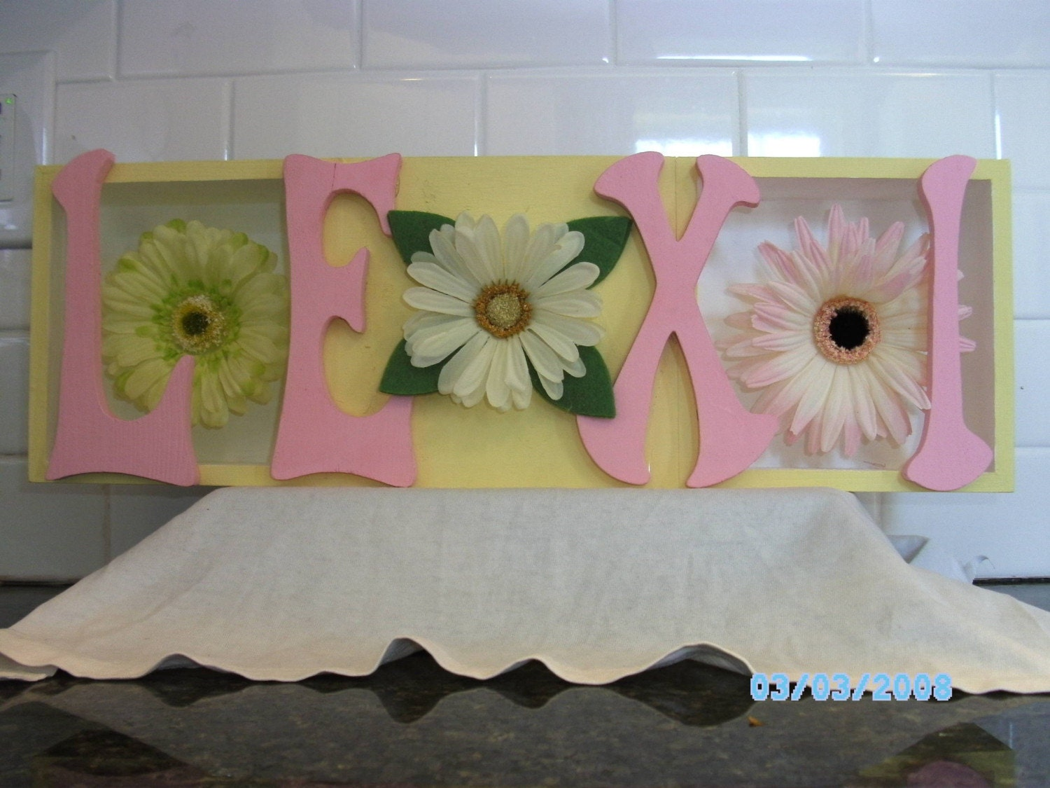3-D Flower Name Sign