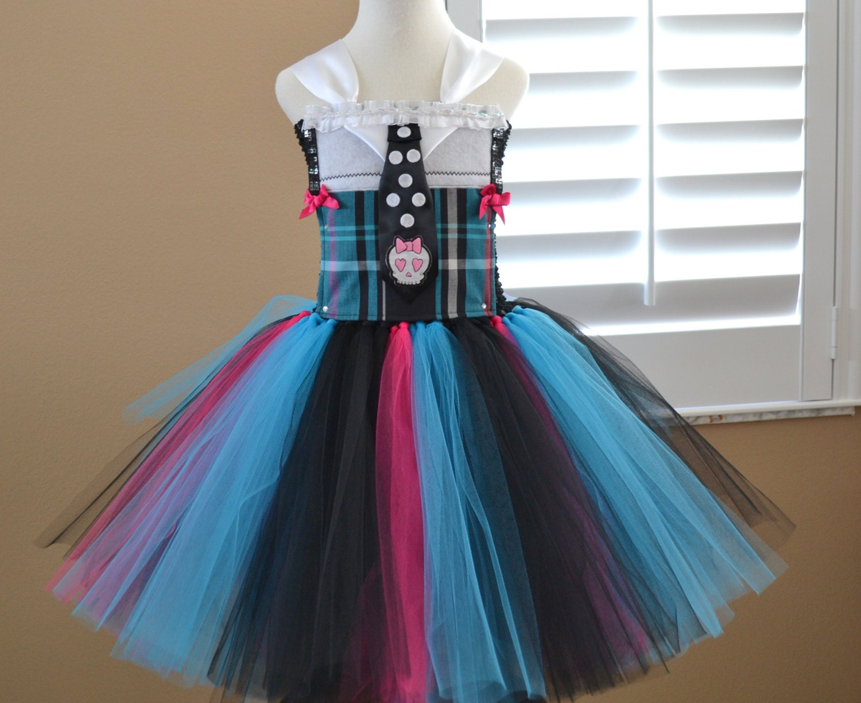 Frankie Stein Monster High Tutu Dress 2 Different от 1583Designs