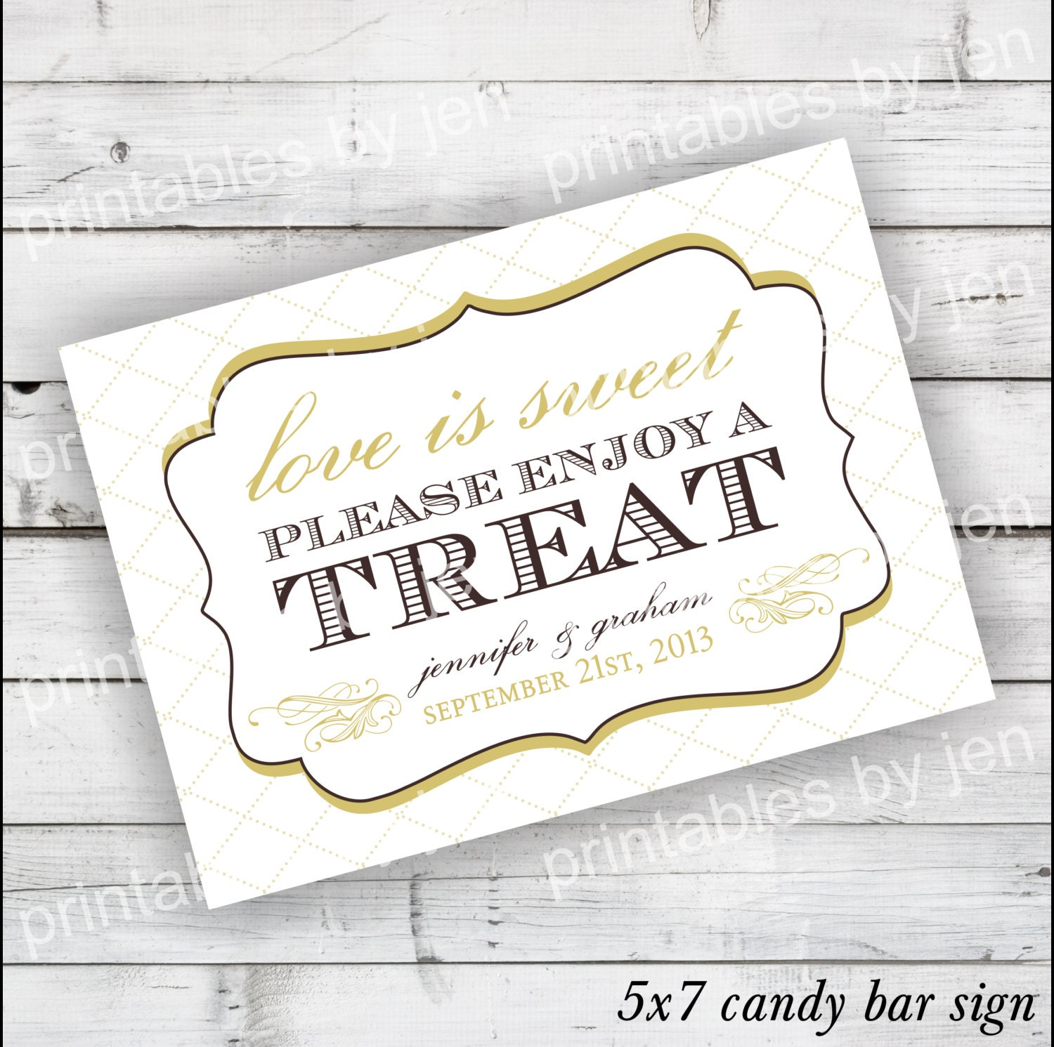Candy Bar Sign DIY Printable customize with by PrintablesbyJen