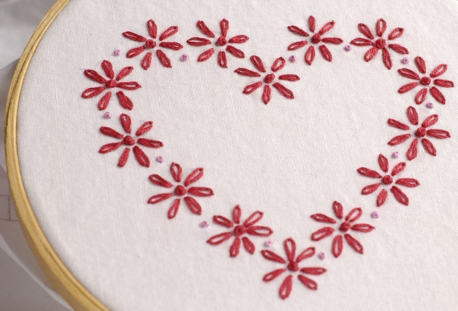 Be Mine Valentine Embroidery Pattern Packet
