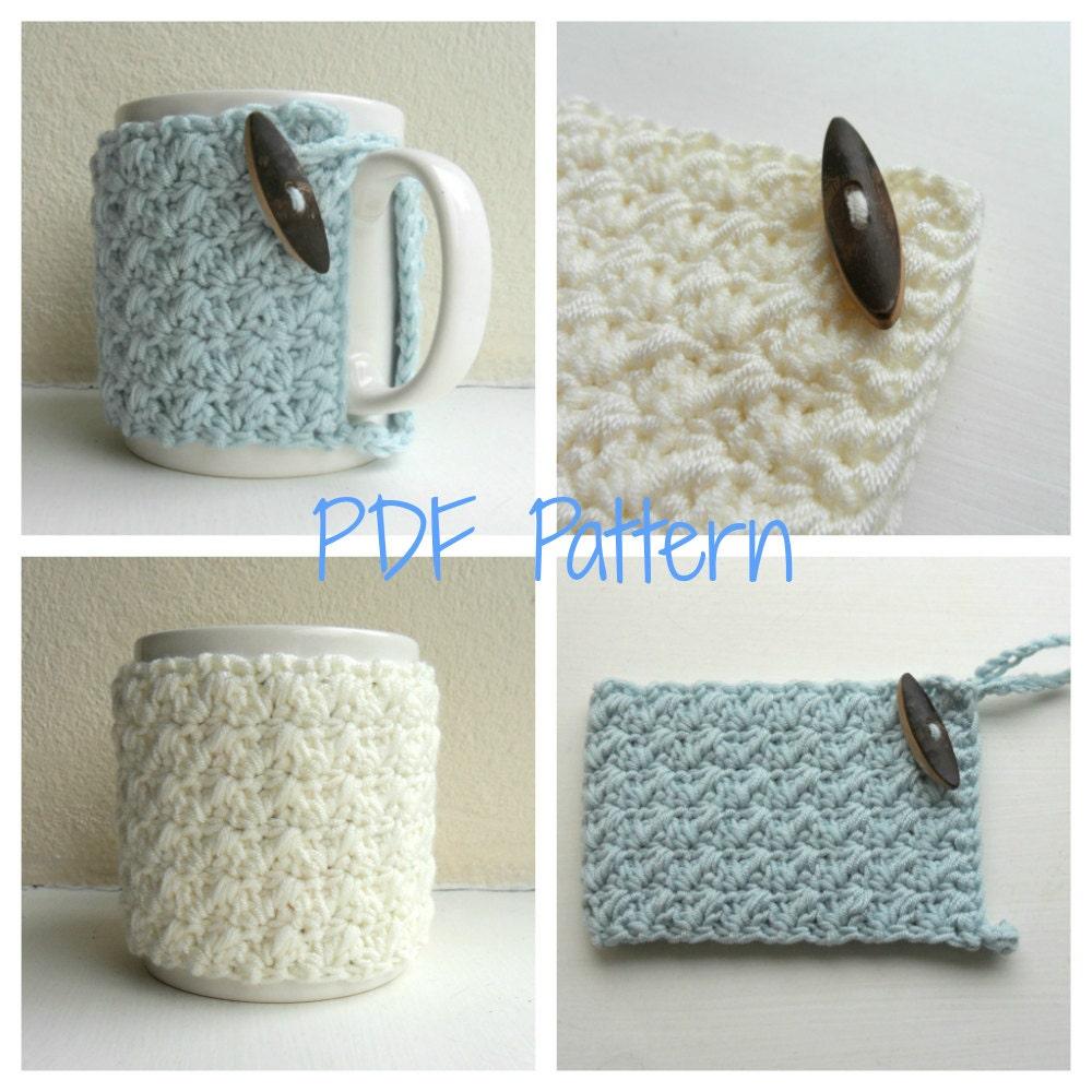 Items similar to Mug Cozy Crochet Pattern - cup cozy - mug hug PDF on Etsy
