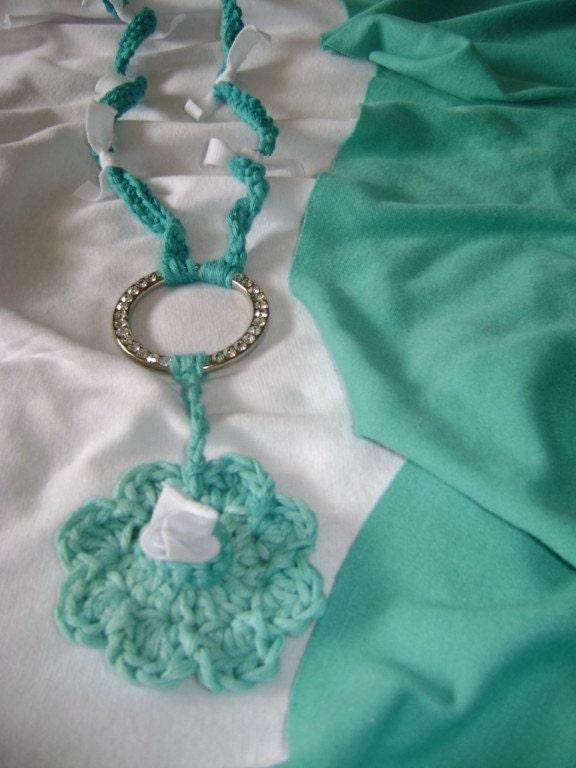 exotic ocean long crochet necklace