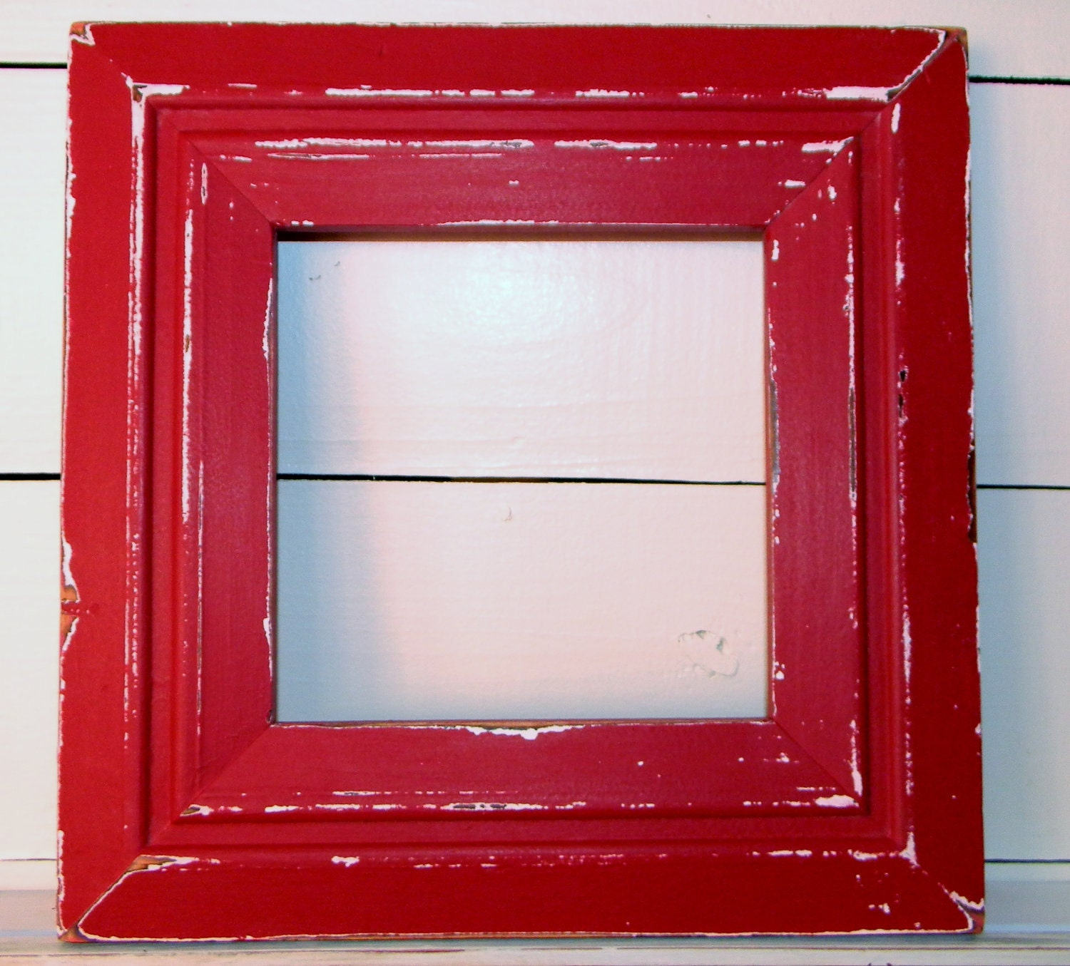 Paint Distressed Look Picture Frame