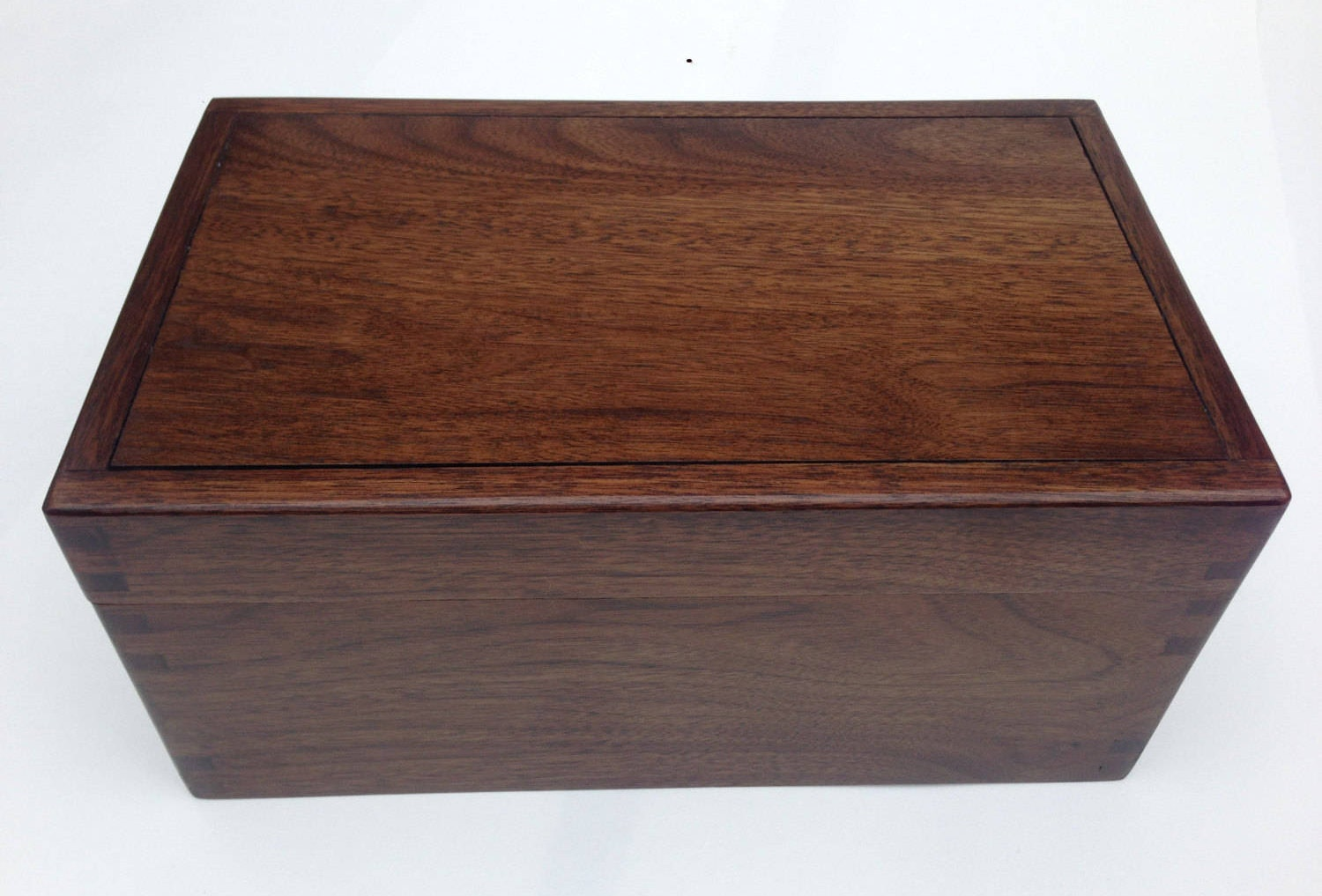 Digby fine wooden box handmade in walnut contemporary design. Spectacular valet or jewellery box can be customised in wood and interior.