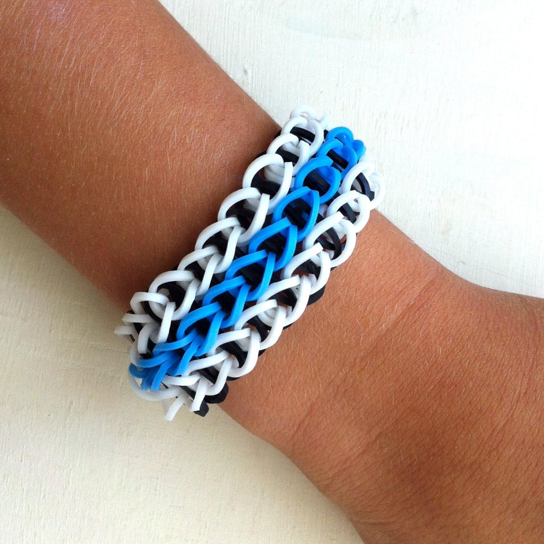 items similar to triple single rainbow loom bracelet