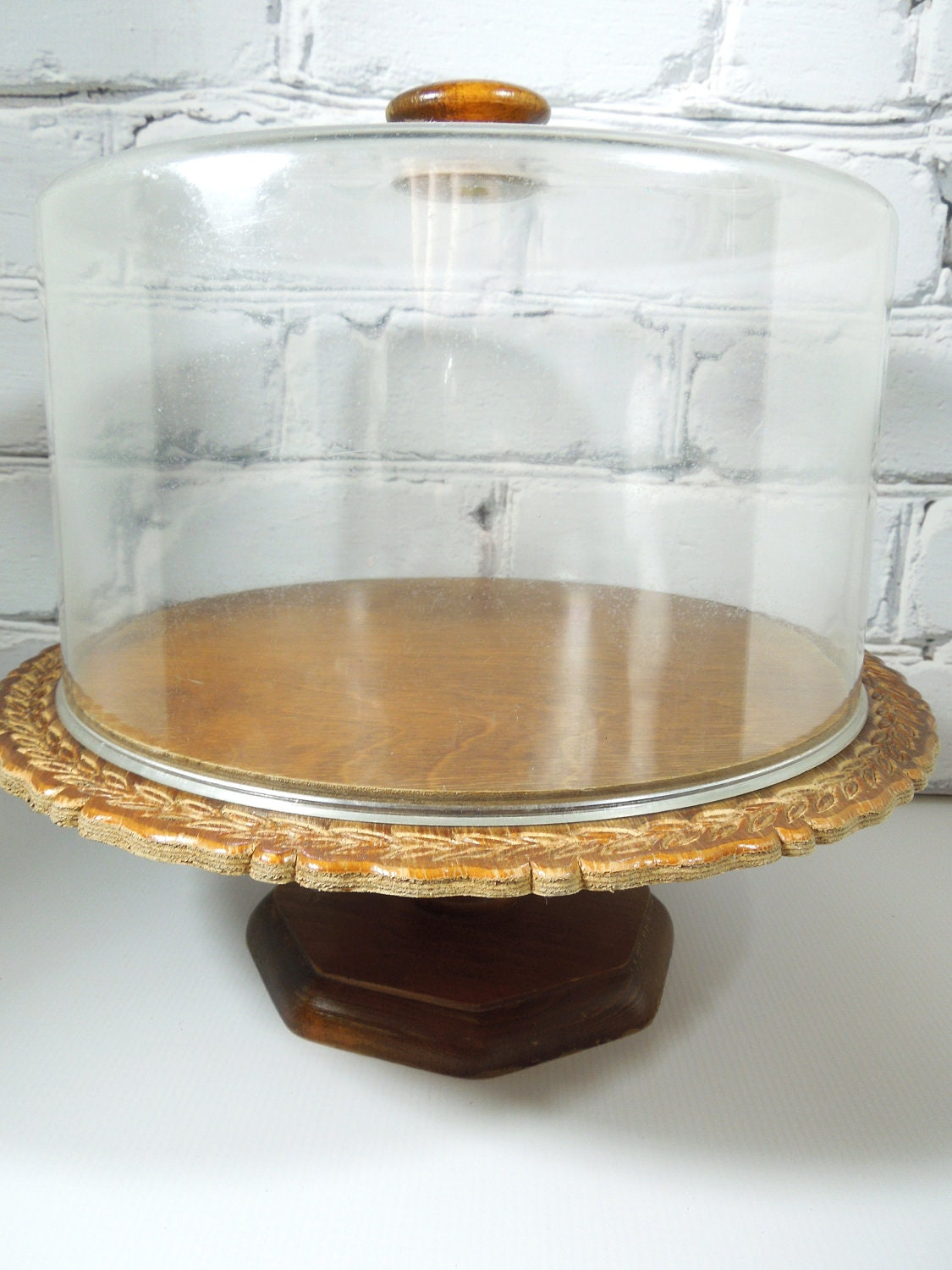 Vintage Wooden Cake Stand 3 Tier Cake Stand Bamboo