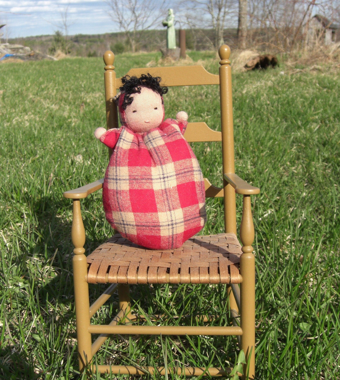 Mad about Plaid Bunting Baby Doll