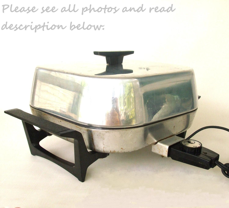 Vintage Sunbeam Electric Frying Pan Skillet By Lauraslastditch