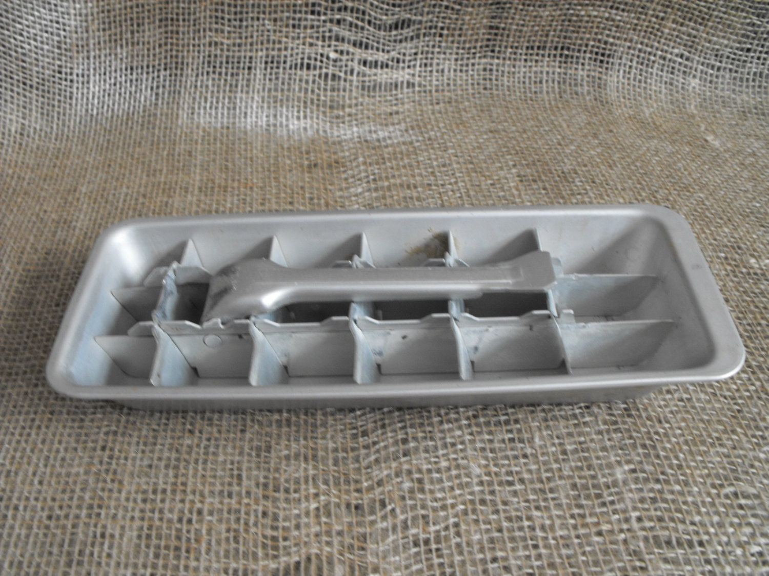 Ice tray vintage aluminum retro kitchen utensil - QuarryDesignsToo