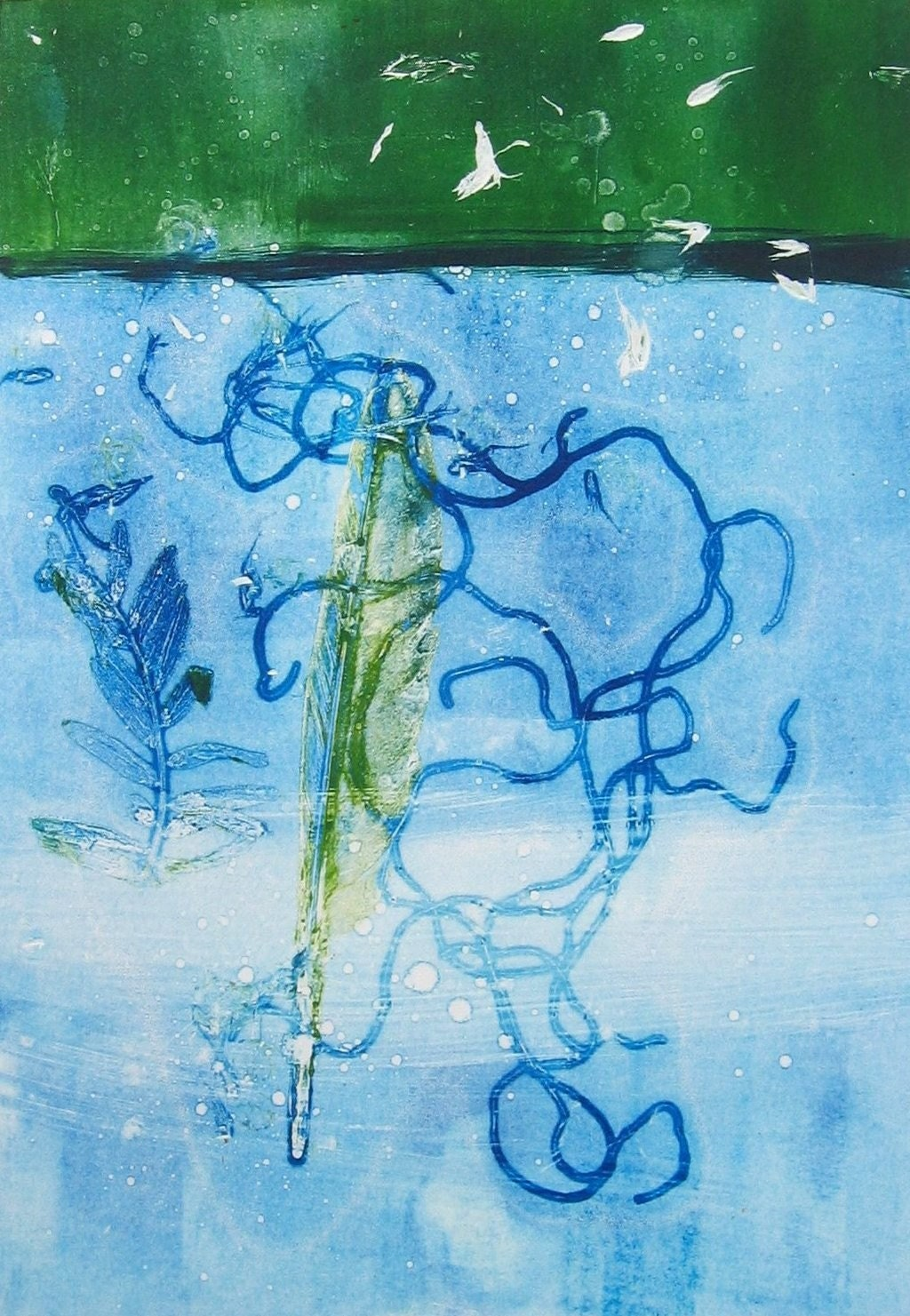 Beneath the Sea - Original Monoprint