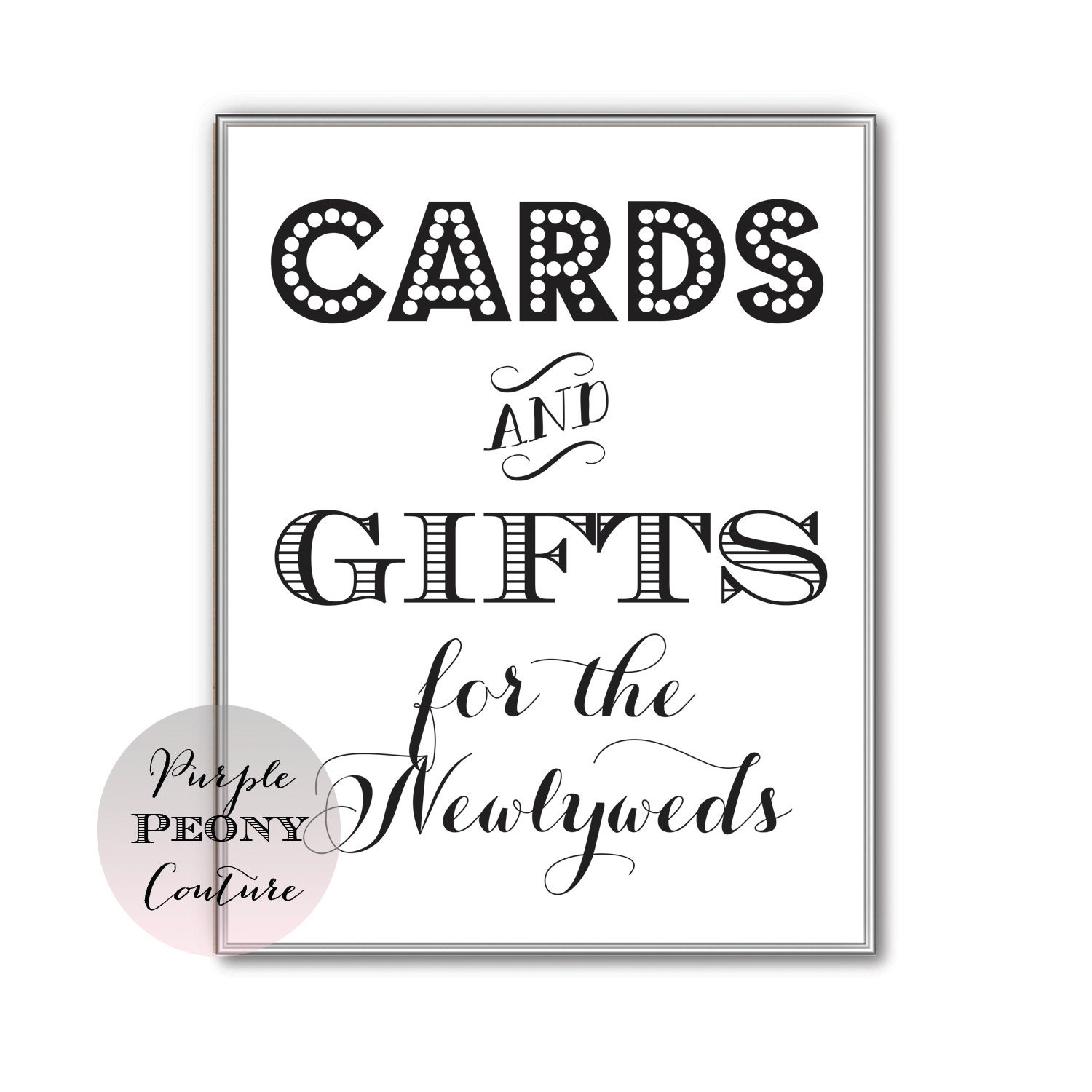Wedding Gift Card Printable : Printable Wedding Card and Gifts Table Cards Sign INSTANT DOWNLOAD ...