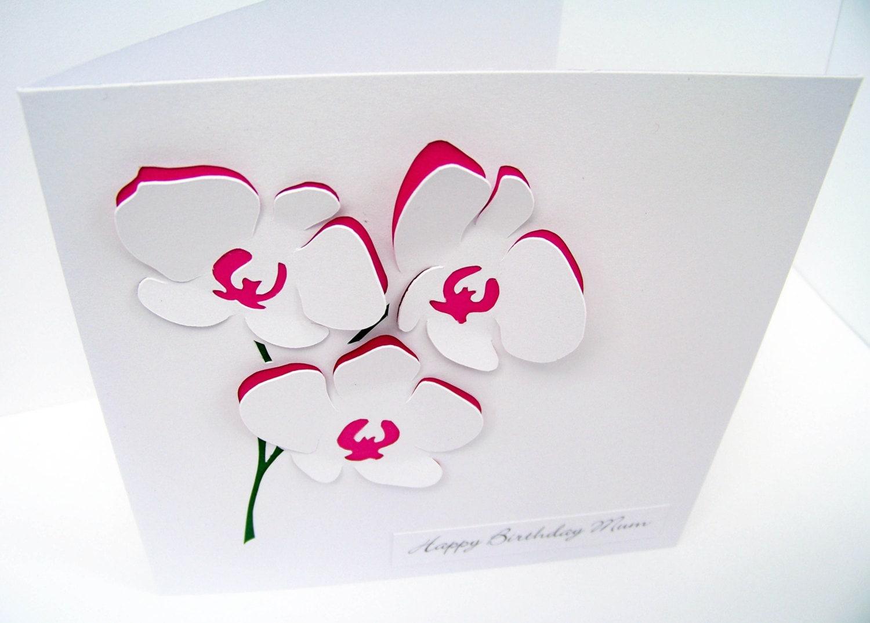 3D открытка с цветами Мастер-класс своими руками 28