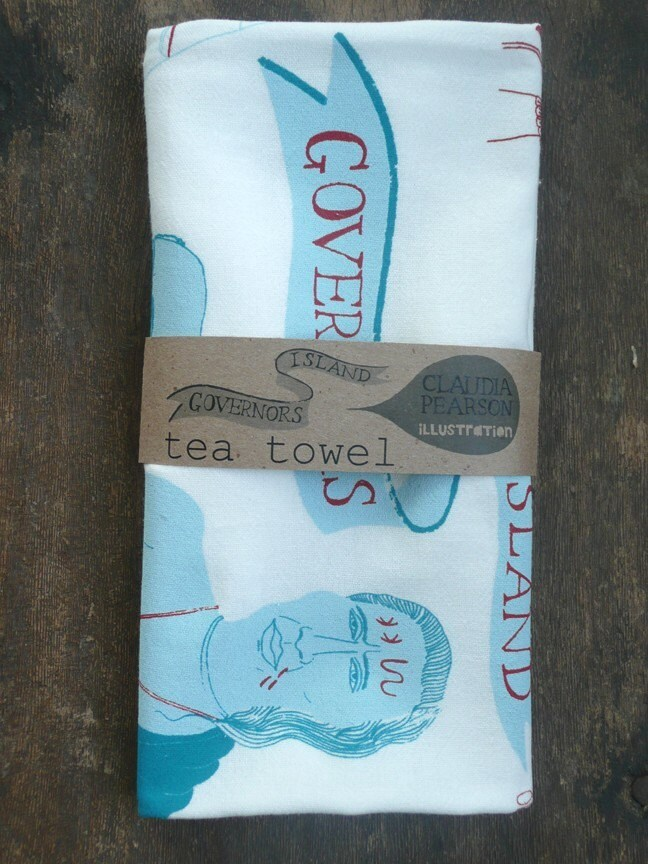 Governors Island Tea Towel