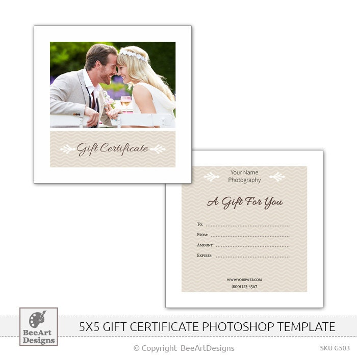 Gift Certificate Template Photoshop