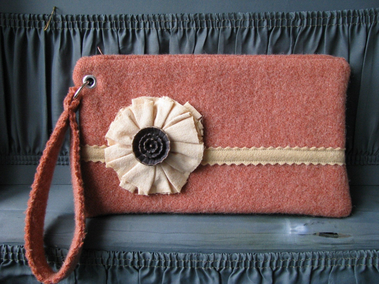 Red Wool Clutch