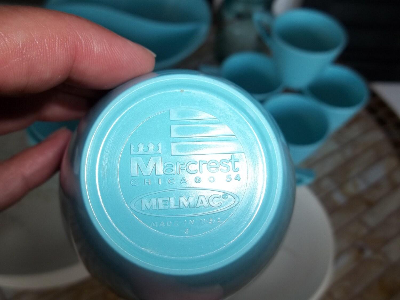 Marcrest Backstamp on Melmac Dishes