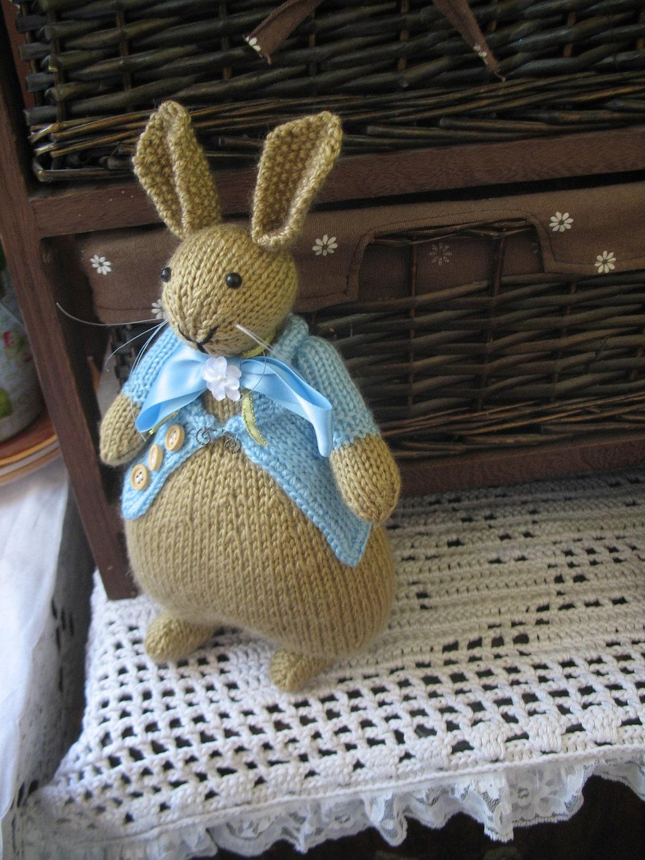 Knitted bunny Peter Rabbit Beatrix Potter by dollsandbunnies