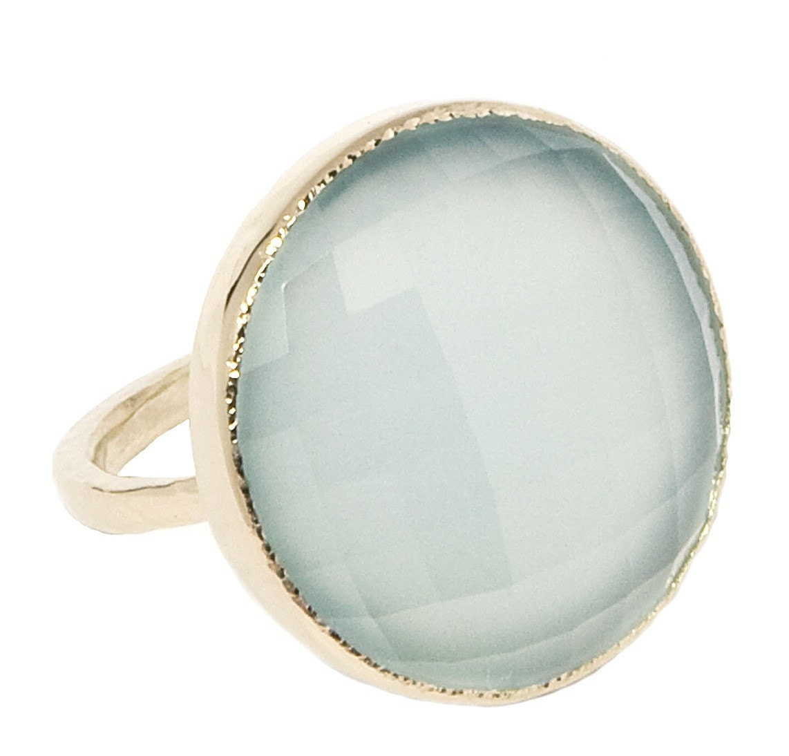 Seablue chalcedony cocktail ring