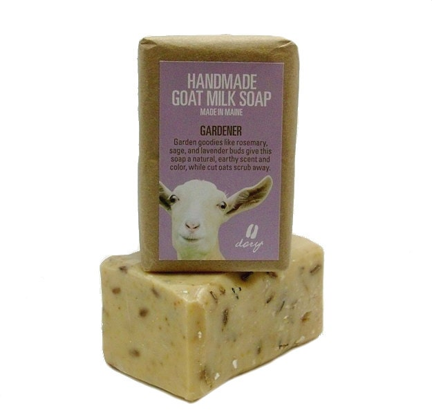 Goat Milk Soap - GARDENER - 4 oz. bar handmade - MeadowflyFarm