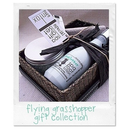 Flying Grasshopper Gift Collection Spa Foot Scrub AND by PureIntox from etsy.com