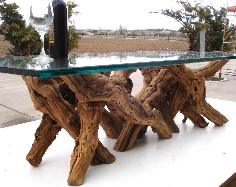 art furniture handmade from ancient grapevine wood