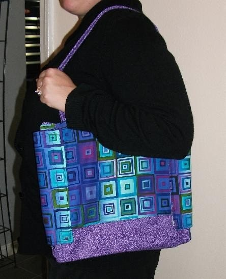 Brown Paisley with Pink/lime dotted Binder Cover/Tote